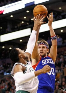 Spencer Hawes' future with the Sixers could be in jeopardy for the miserable play that he's displayed this season.